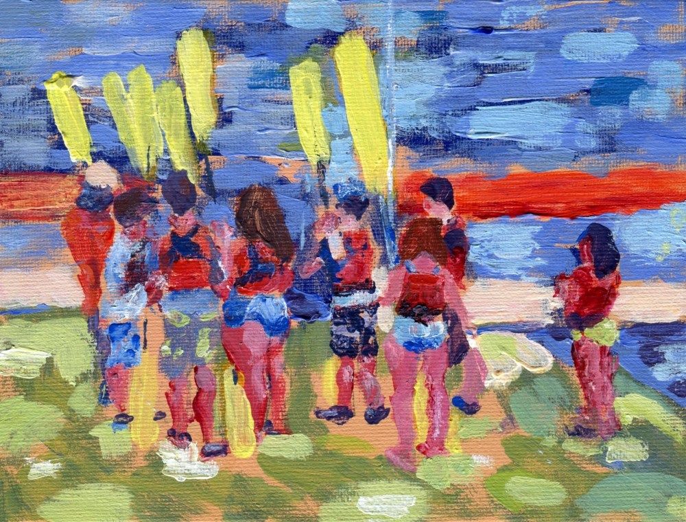 """Kayak Class"" original fine art by Stanley Epperson"