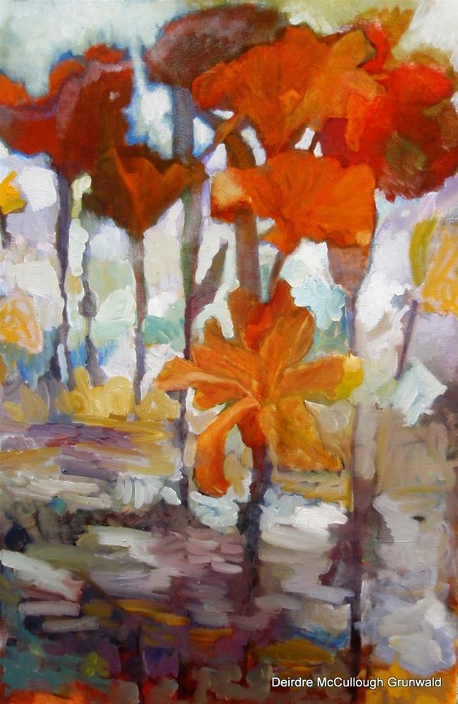 """""""Adrien's Flowers"""" original fine art by Deirdre McCullough Grunwald"""
