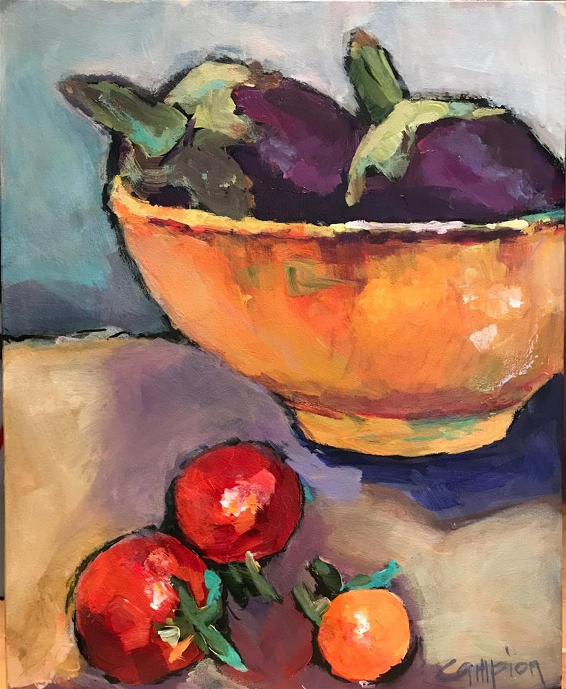 """919 Technically Fruits"" original fine art by Diane Campion"