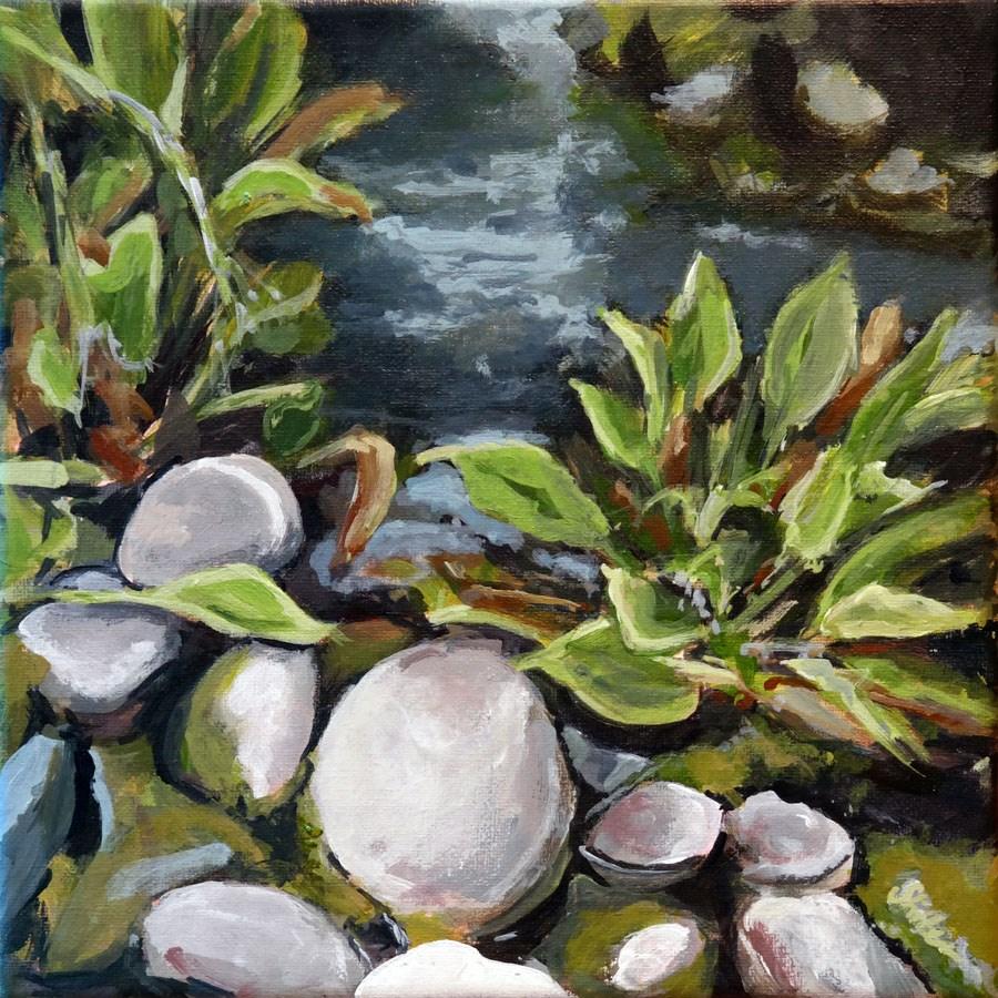 """""""1490 On Pond"""" original fine art by Dietmar Stiller"""