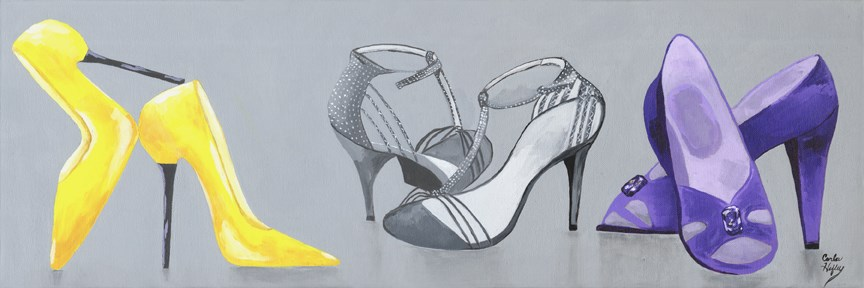 """High Heels Galore"" original fine art by Carla Hefley"