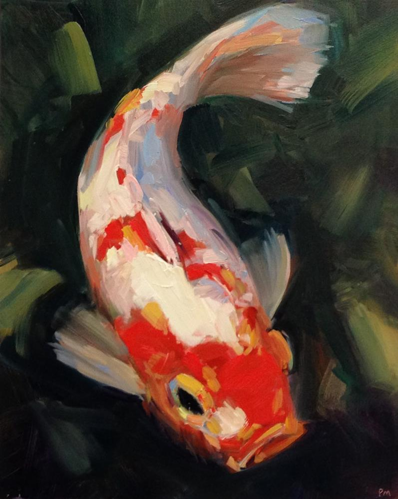"""K is for Koi"" original fine art by Patti McNutt"