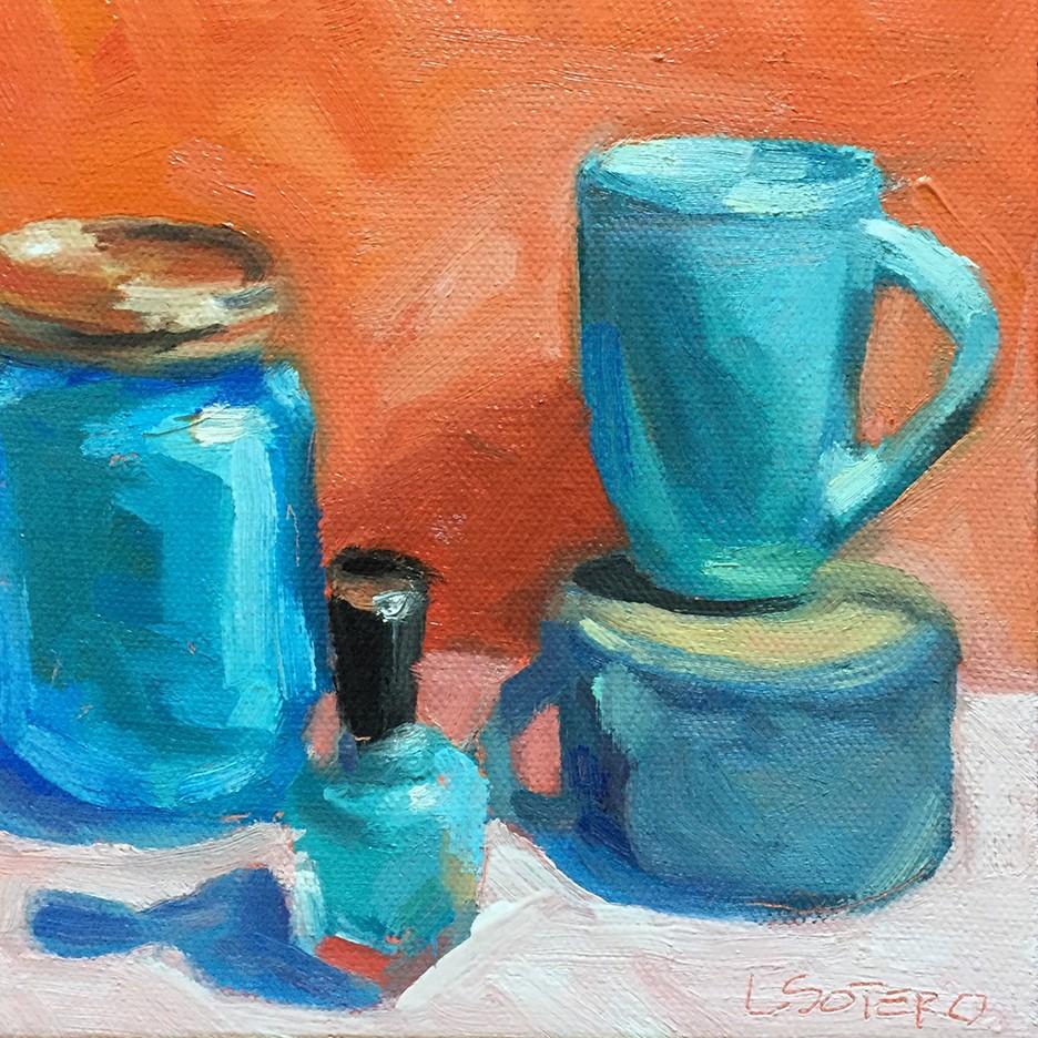 """Blue Things 2"" original fine art by Lisa Sotero"