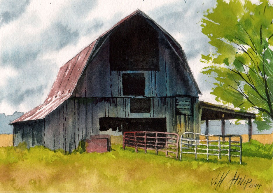"""High Barn"" original fine art by Jeff Atnip"