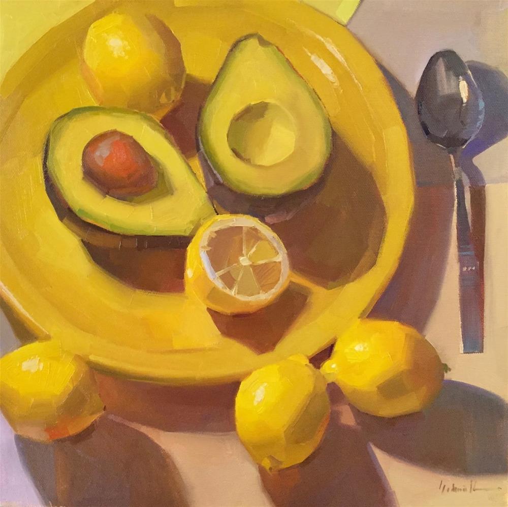 """""""Avocado Appetizer"""" original fine art by Sarah Sedwick"""