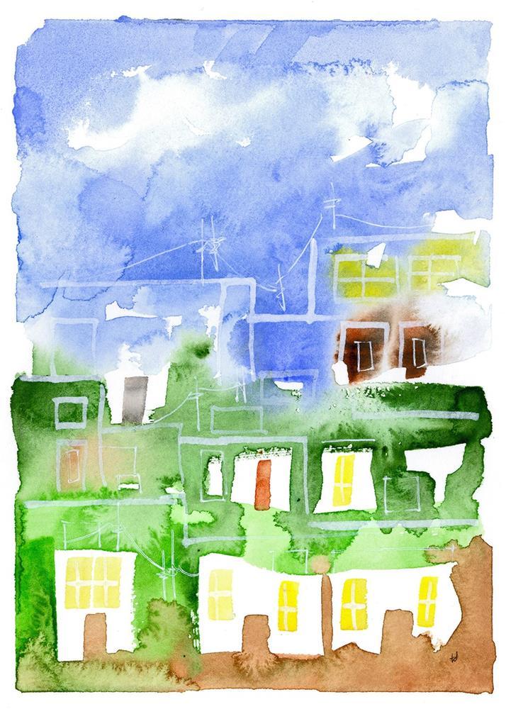 """""""Ciudad 1"""" original fine art by Tonya Doughty"""