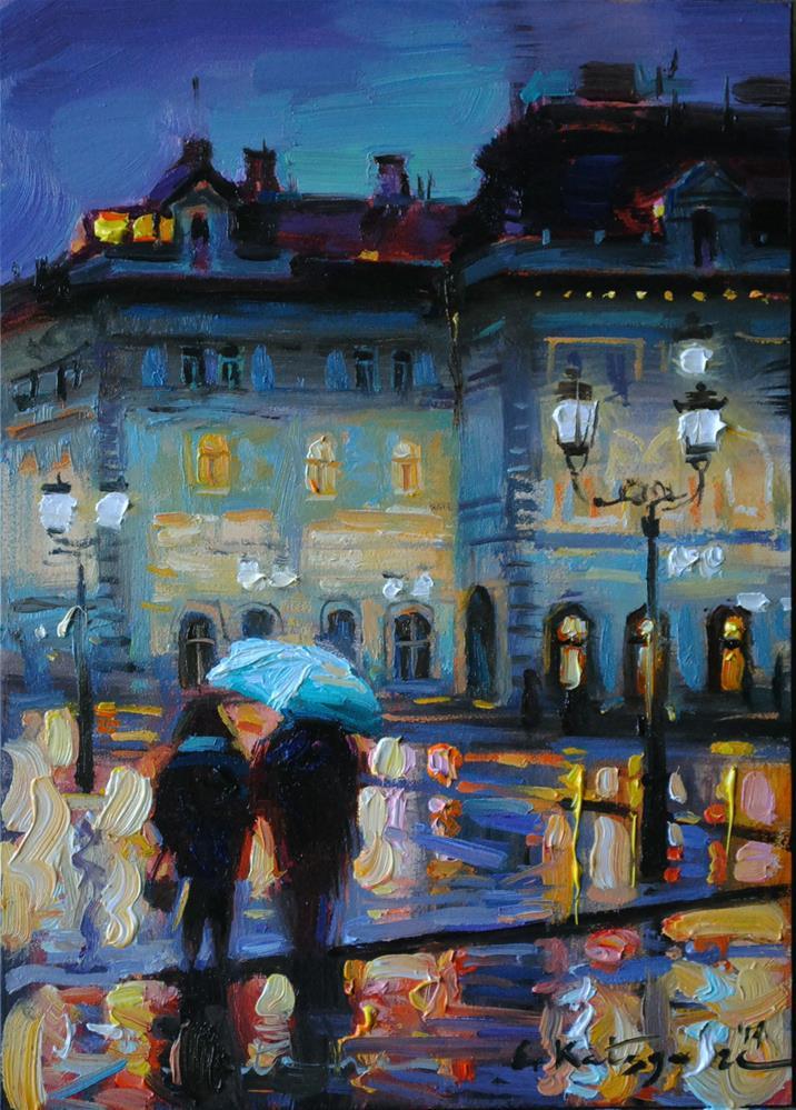 """Evening Promenade"" original fine art by Elena Katsyura"