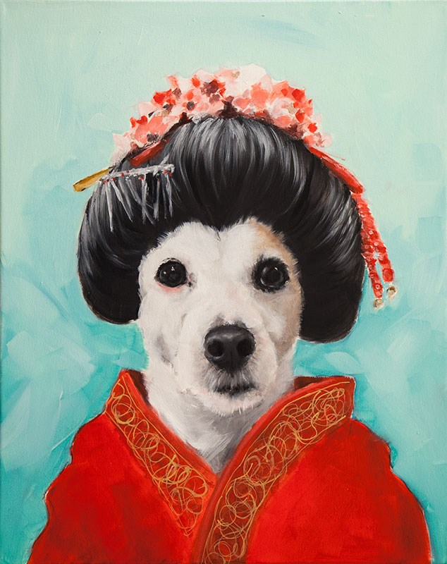 """""""Geisha Wendy"""" original fine art by Clair Hartmann"""