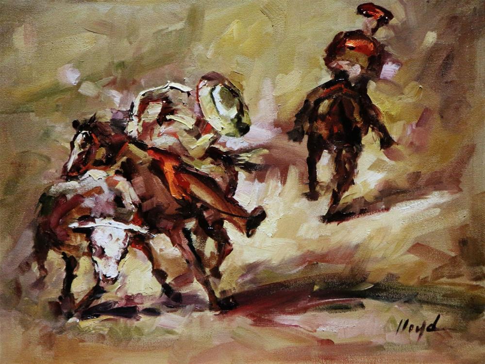 """Wrangler"" original fine art by Diane Lloyd"