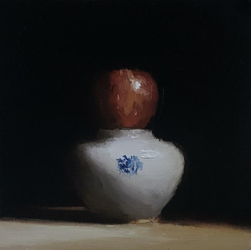 """Apple Top"" original fine art by Neil Carroll"