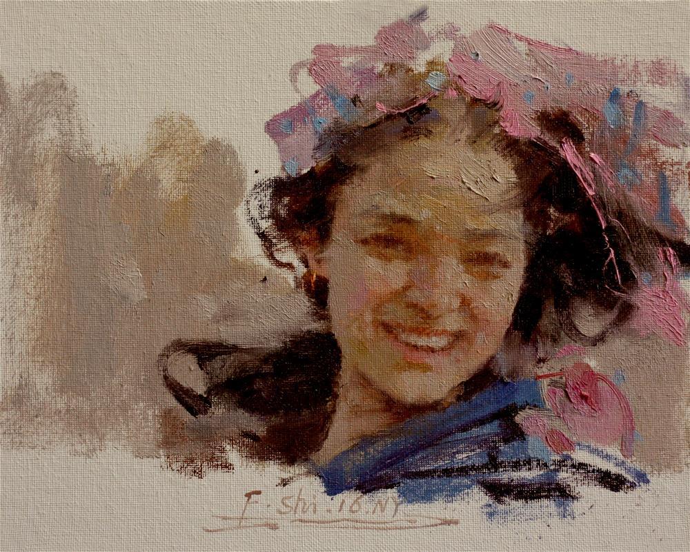 """""""Portrait"""" original fine art by fengshi jin"""