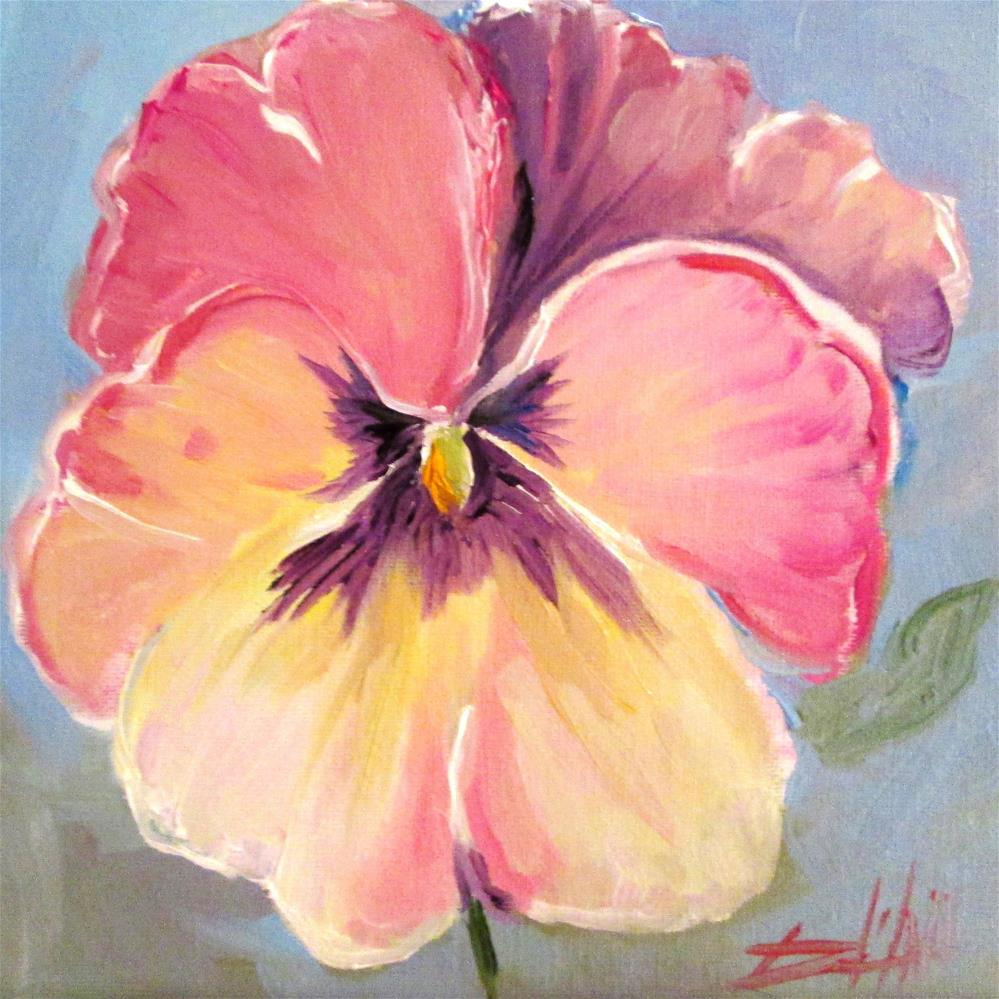 """Pink Pansy"" original fine art by Delilah Smith"