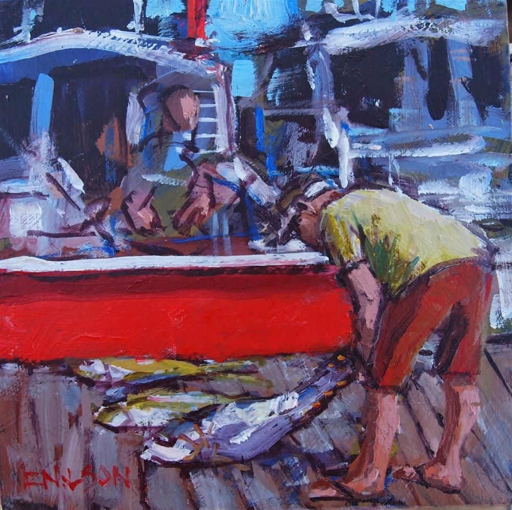 """Study Frenzy"" original fine art by Rick Nilson"