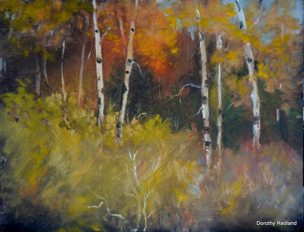 """""""Splended Autumn"""" original fine art by Dorothy Redland"""