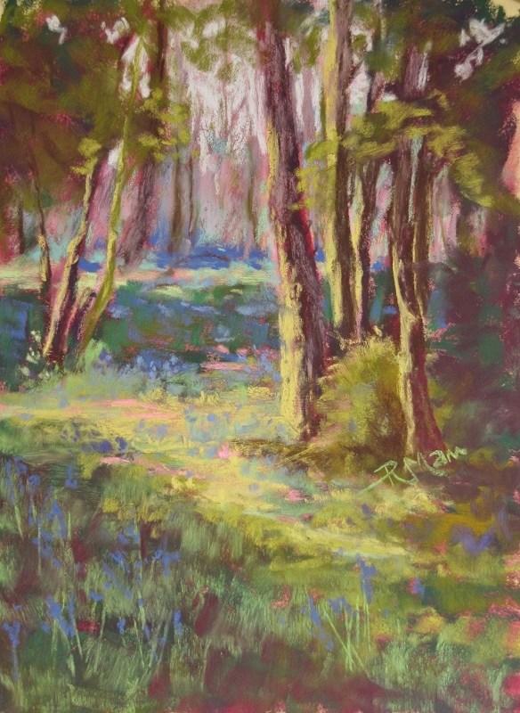 """""""Bluebell Wood"""" original fine art by Ruth Mann"""