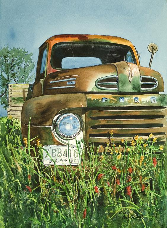 """""""Old Country Ford"""" original fine art by Andy Sewell"""