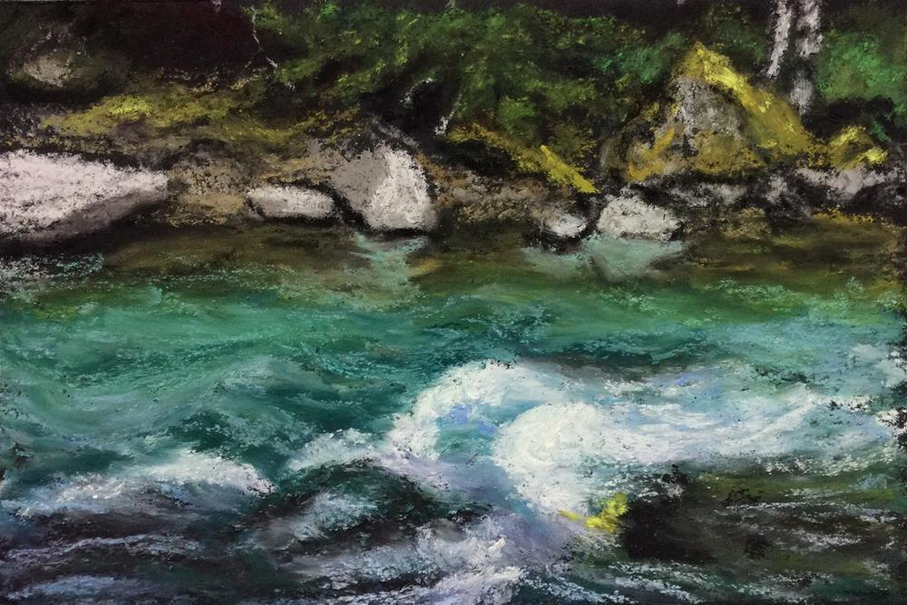 """GOING WITH THE FLOW"" original fine art by Marti Walker"