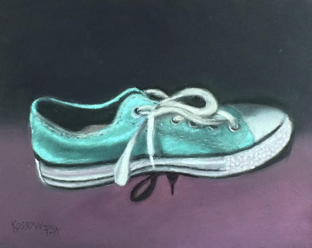 """Ruby's Slipper"" original fine art by Cristine Kossow"