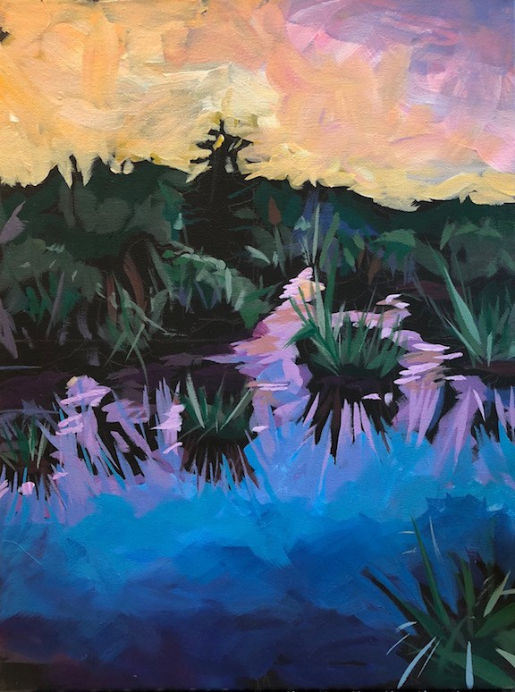 """June 4, Sky Reeds"" original fine art by Kat Corrigan"