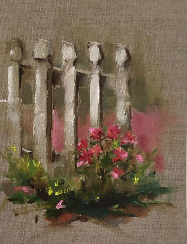 """The Garden Gate"" original fine art by Marcia Hodges"