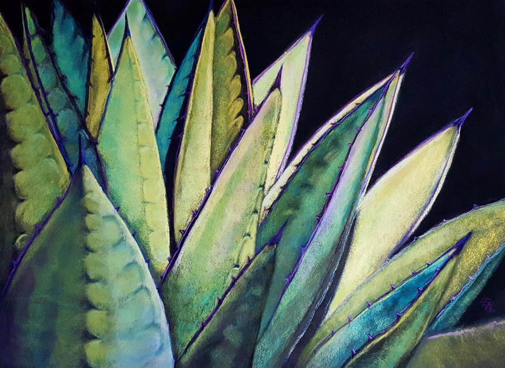 """Green Javelin"" original fine art by Anna Lisa Leal"