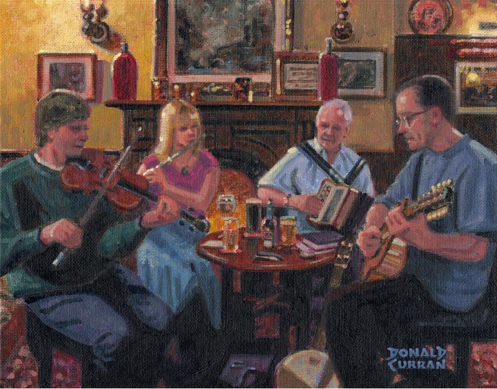 """Irish Session"" original fine art by Donald Curran"