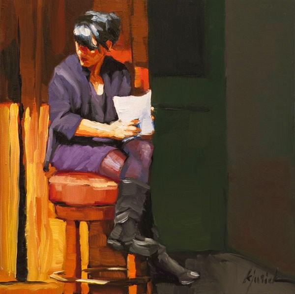 """The Hot Seat"" original fine art by Karin Jurick"
