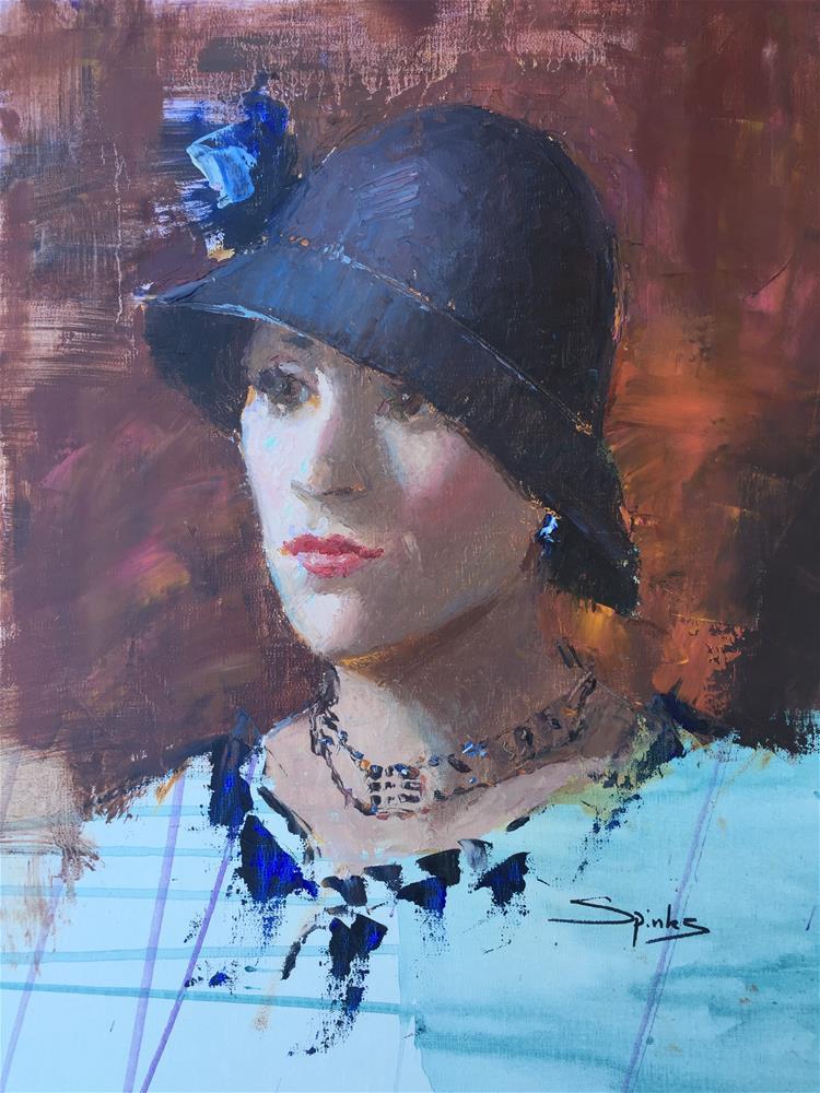 """The Cloche"" original fine art by Johanna Spinks"