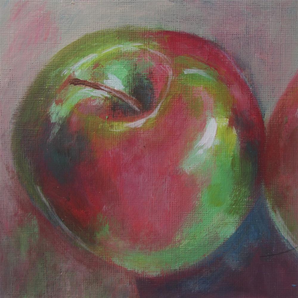 """Apple a Day #6"" original fine art by Patricia MacDonald"