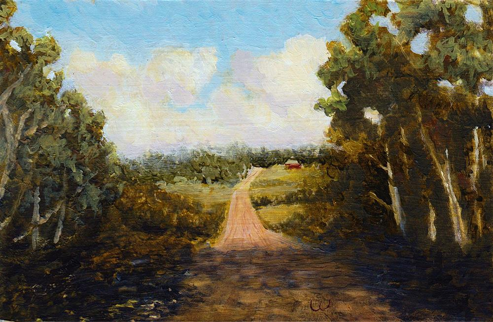 """A Road Less Traveled"" original fine art by William W. Hoyt"