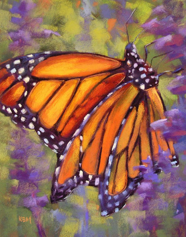 """Tips For Painting a Monarch Butterfly ...Mini Demo"" original fine art by Karen Margulis"