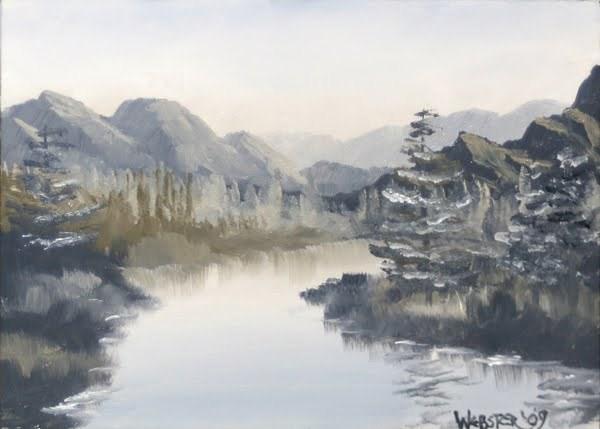 """""""Mark Webster - Grayscape #3 - Landscape Oil Painting"""" original fine art by Mark Webster"""