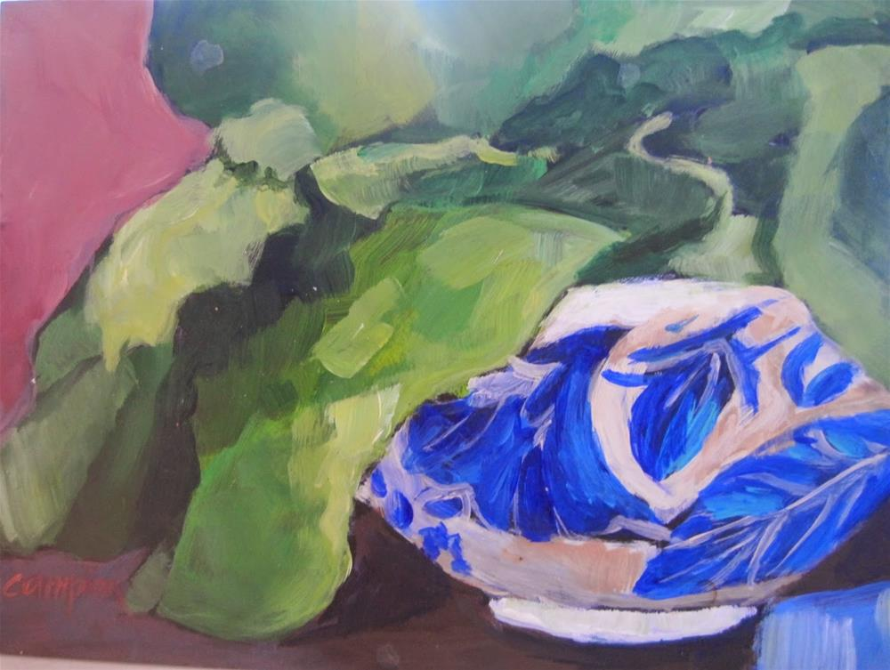 """448 Leafy"" original fine art by Diane Campion"