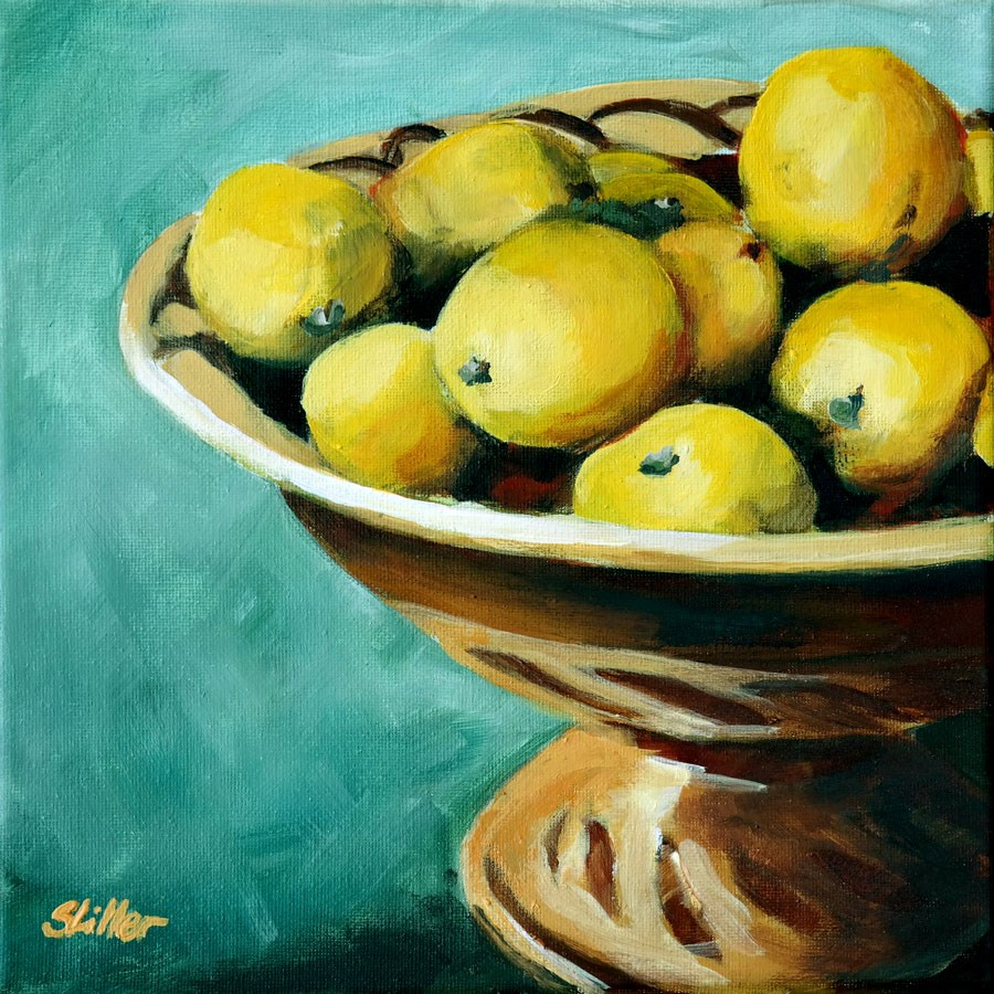 """1713 Lemon Bowl"" original fine art by Dietmar Stiller"