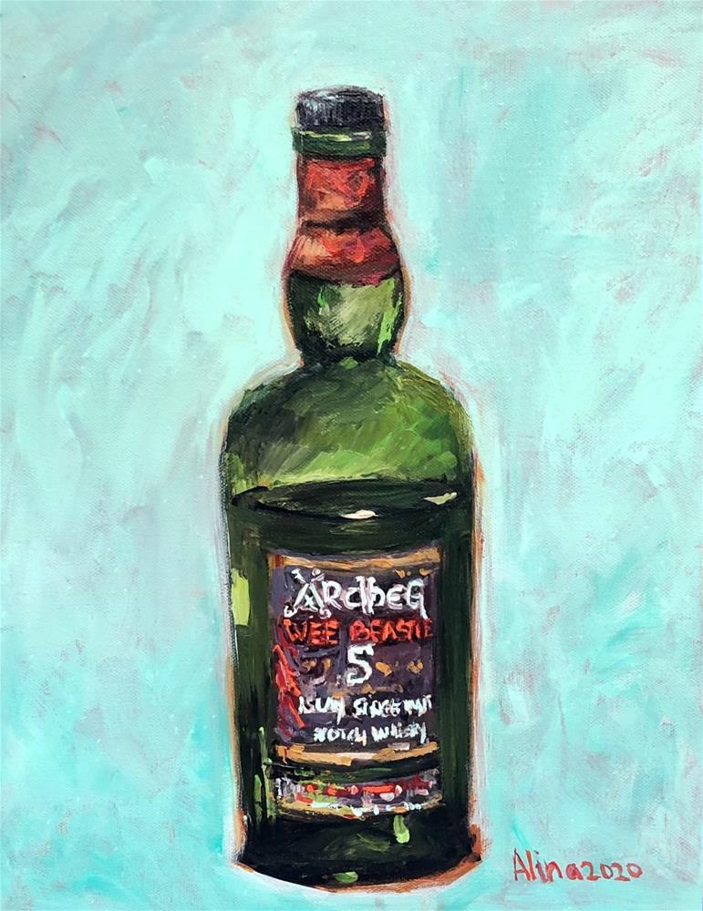 """""""Wee Beastie"""" original fine art by Alina Vidulescu"""
