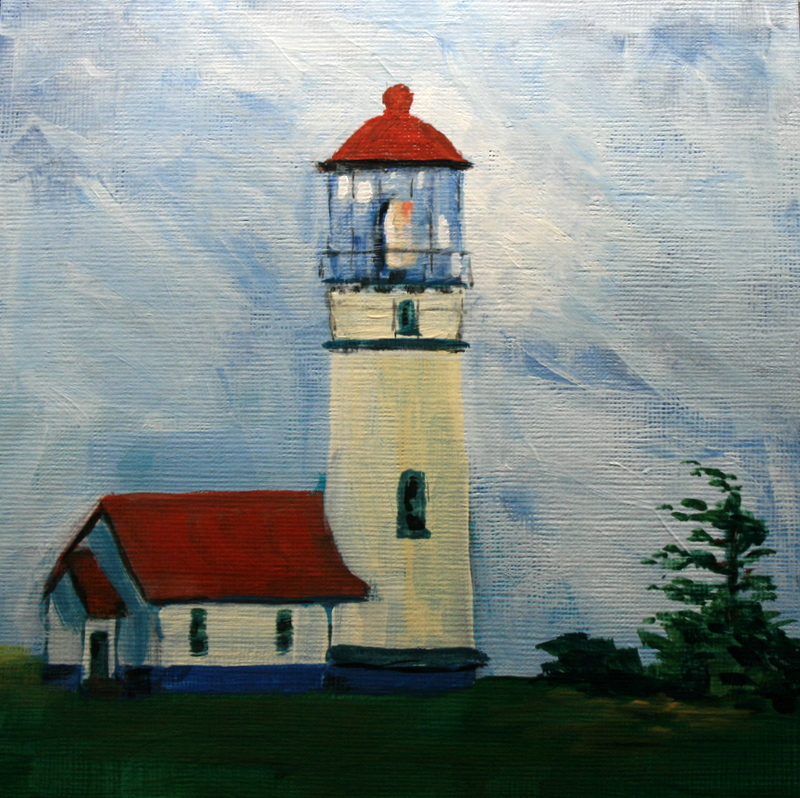 """Cape Blanco Lighthouse"" original fine art by Jean Nelson"