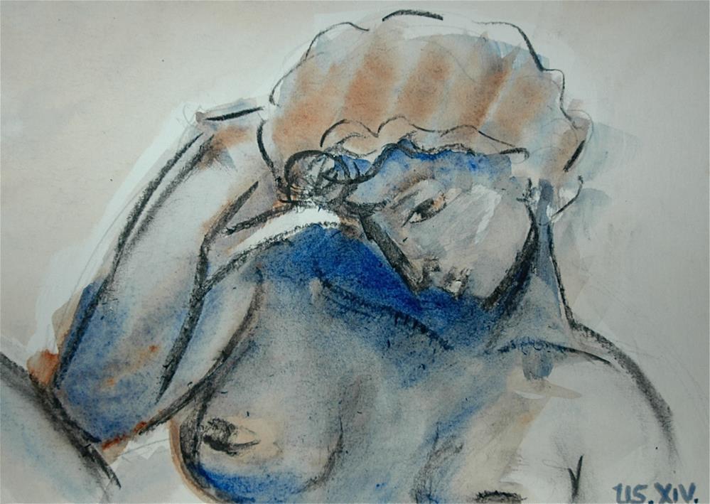"""The night - after Michelangelo"" original fine art by Ulrike Schmidt"