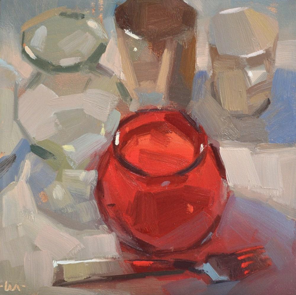 """""""Red Around"""" original fine art by Carol Marine"""
