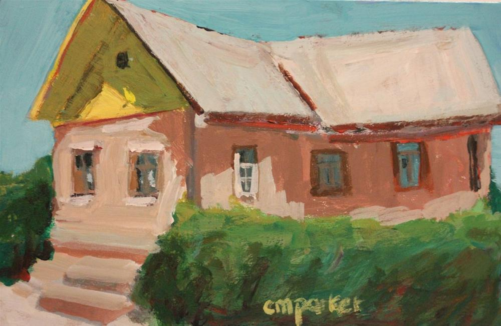 """House in Light, Vilnius County, Lithuania"" original fine art by Christine Parker"