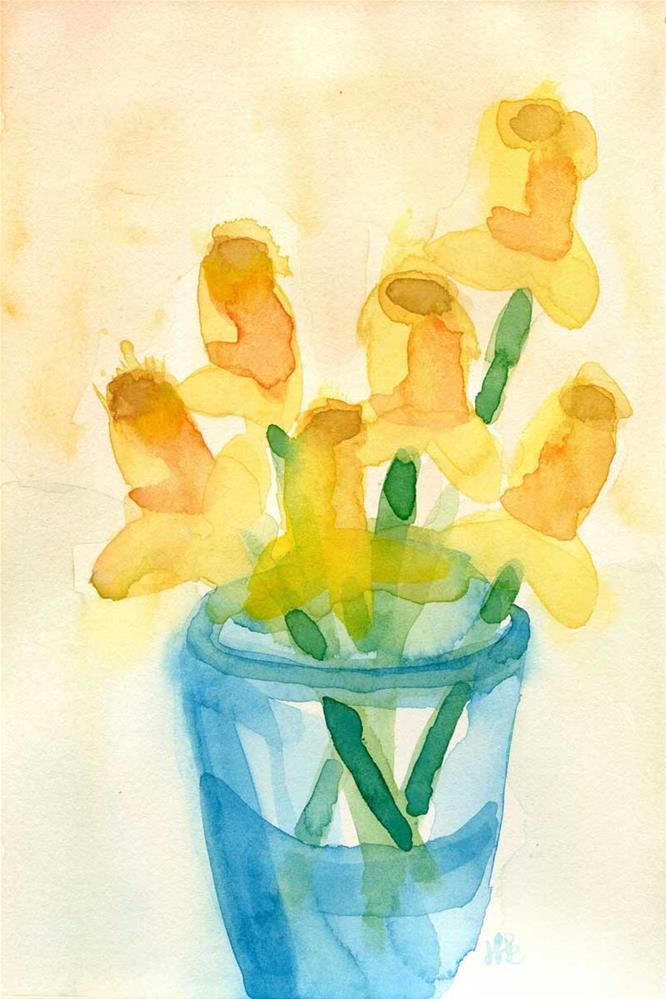 """Daffy"" original fine art by Heather Bennett"