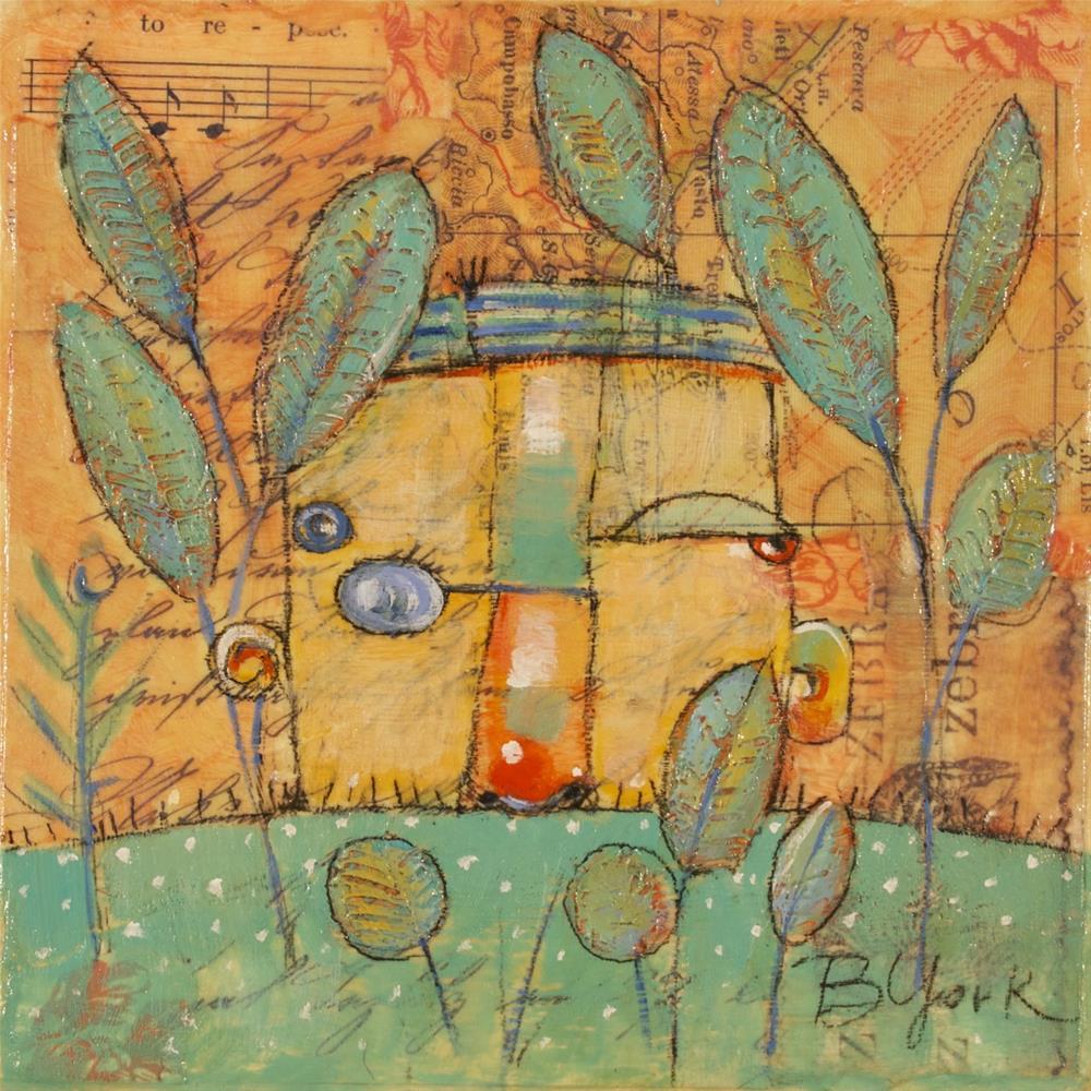 """Secret Garden"" original fine art by Brenda York"