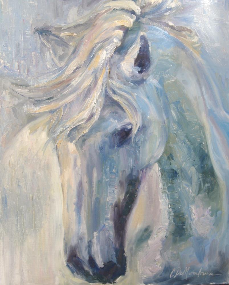 """Through the Mist"" original fine art by Carol DeMumbrum"