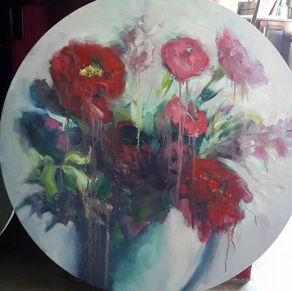 """Poppies etc."" original fine art by Rentia Coetzee"