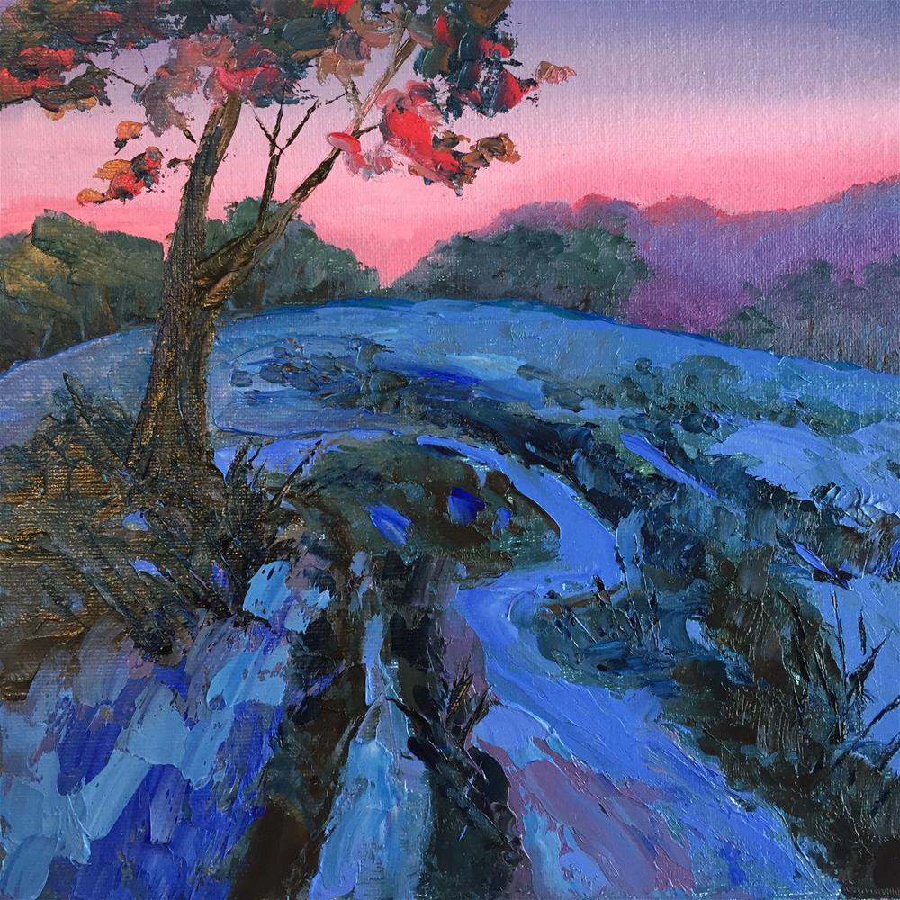 """A Walk in the Fields at Dusk"" original fine art by Rose Brenner"