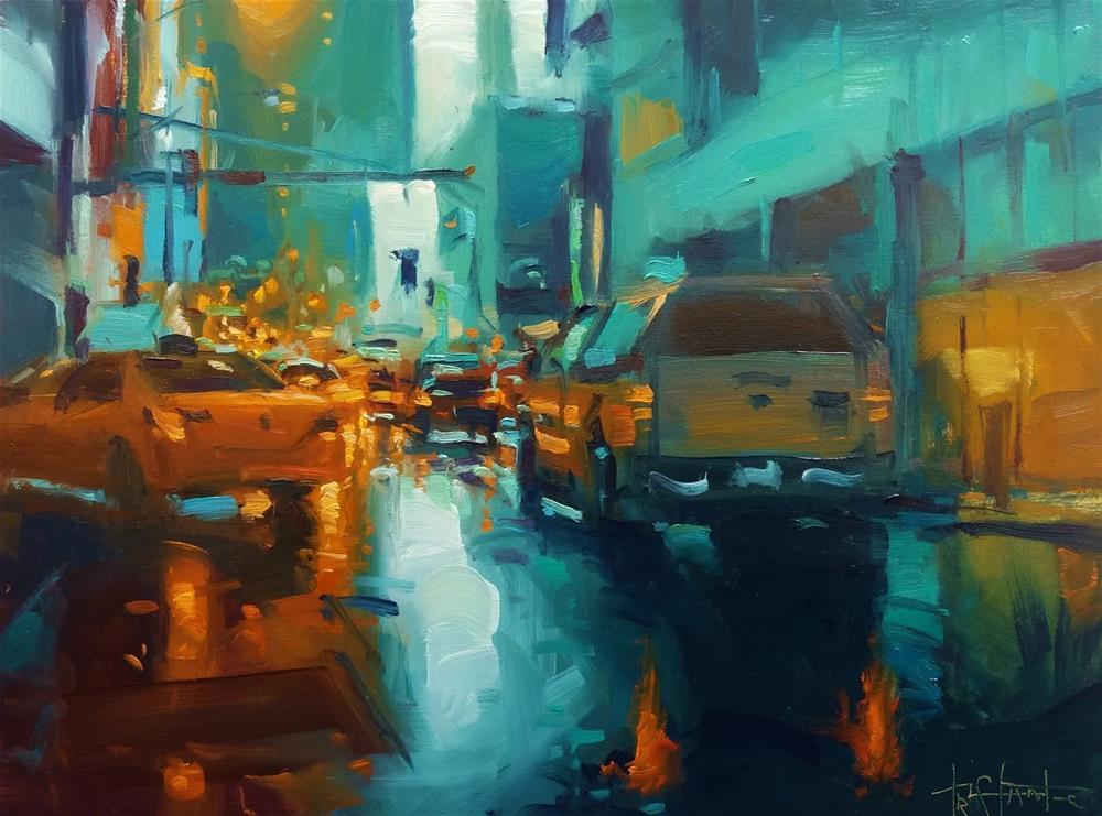 """""""Fog of city lights"""" original fine art by Víctor Tristante"""
