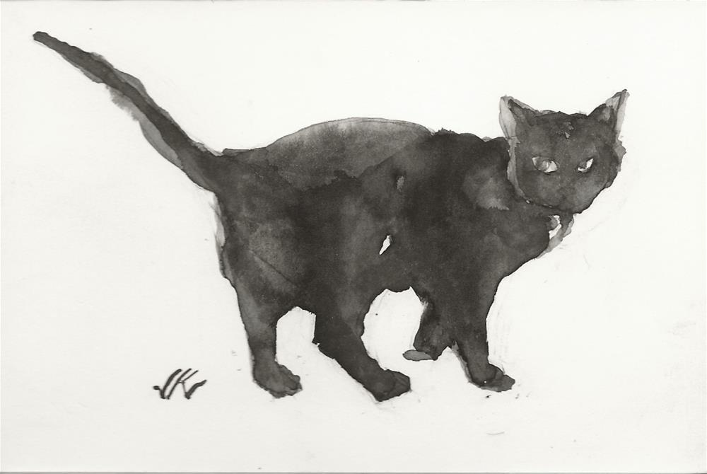 """Daily Cat 89"" original fine art by Jean Krueger"