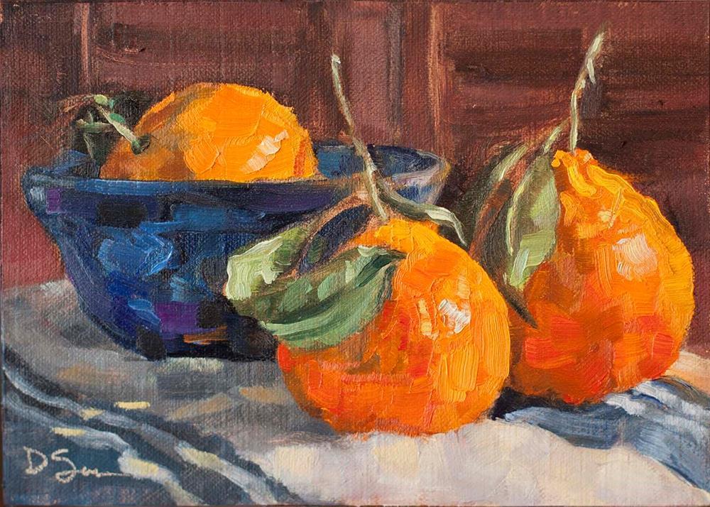 """Clementines"" original fine art by Deborah Savo"