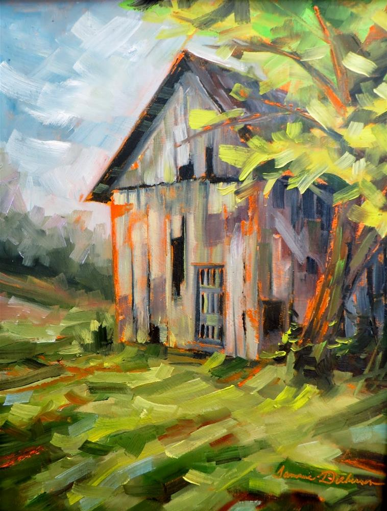 """""""Old Barn on St. Charles Street"""" original fine art by Tammie Dickerson"""