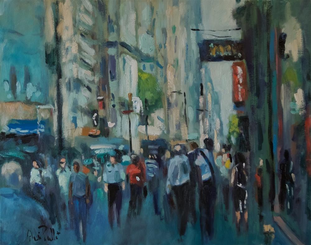 """""""Financial Area NYC"""" original fine art by Andre Pallat"""