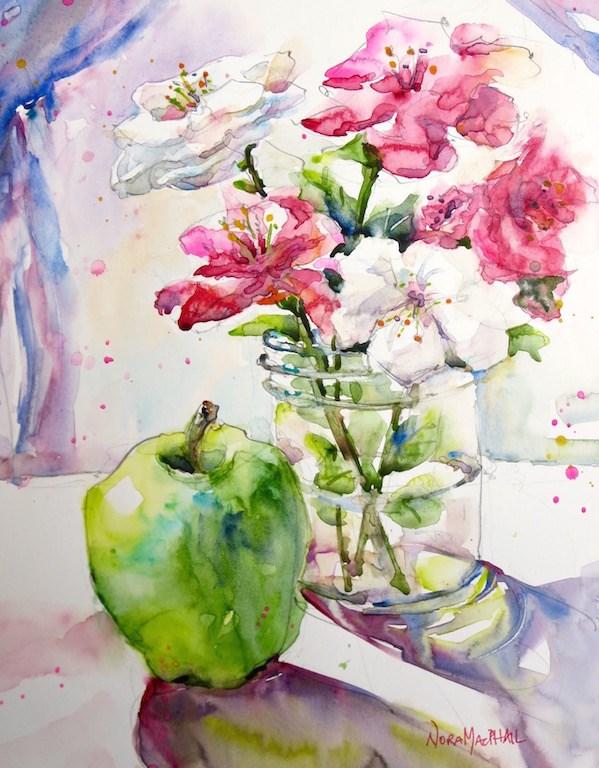 """stage whisper"" original fine art by Nora MacPhail"